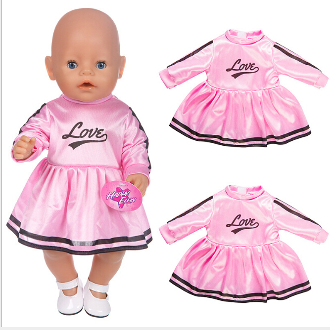 Sport Dress Fit 17 Inch 43cm Doll Clothes Born Baby Doll Clothes Dress For Baby Birthday Festival Gift