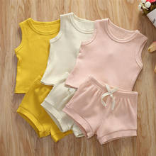Summer Pudcoco Newborn Set Infant Clothing 2Pcs Baby Girl Vest Top Shorts Cotton Outfits Clothes(China)