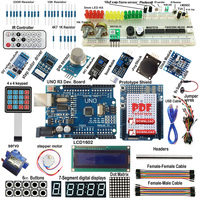 High Quality Ultimate  Starter Kit for Arduino R3 Keypad LCD1602 RTC Servo Motor Gas Relay Drop Shipping|Home Automation Kits|Consumer Electronics -