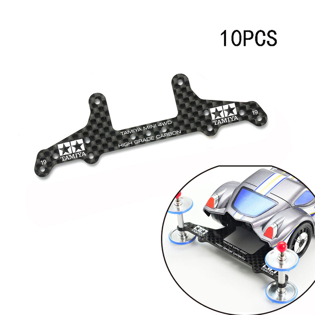 10PCS 95455 AR/S2/VS/SXXแชสซี1.5มม.คาร์บอนไฟเบอร์Pterisตัวอักษรด้านหลังRoller StayสำหรับTamiya Mini 4WDแข่งรถ