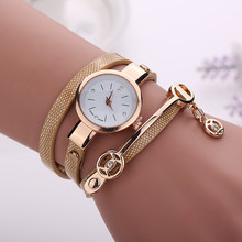 Women Golden Strap Quartz watch Wristwatch Bracelet