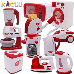 Kid's Kitchen Toys Simulation Microwave Oven Educational Toys Mini Kitchen Food Pretend Play Cutting Role Playing Girls Toys(China)