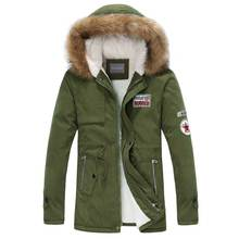 Parka Men Hot Sale Winter Jacket Men Thick Slim Fur Hooded Outwear Warm Coat Casual Solid Brand Outwear Clothing Plus Size S-4XL rokediss 2017 new winter mens parka clothing men jacket coat with fur hood high quality jackets men plus size vestidos hot sale