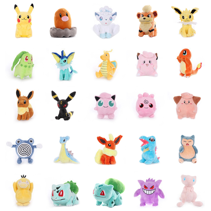 NEW Anime Elf Pikachu Squirtle Bulbasaur Charmander Charizard Blastoise Plush Toy Stuffed Doll Fine Collection Children Day Gift