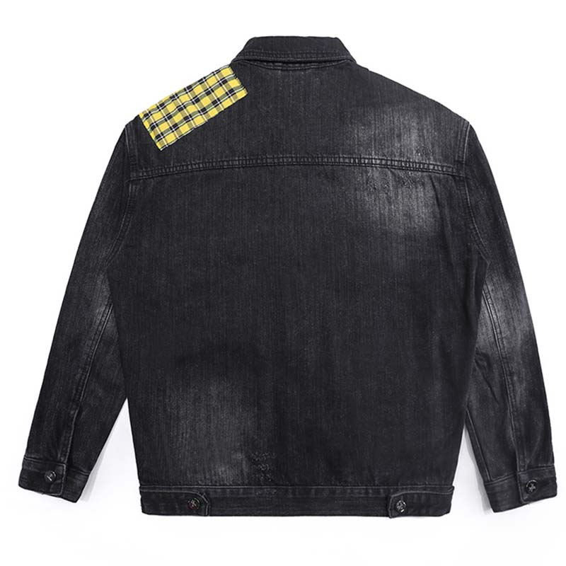 Mcikkny Hip Hop Men`s Fashion Motorcycle Denim Jackets Washed Vintage Patchwork Biker Jeans Jackets Streetwear For Male (3)