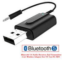 2 en 1 Bluetooth 5.0 émetteur Audio récepteur sans fil Audio musique adaptateur Dongle pour TV PC haut-parleur casque voiture émetteur