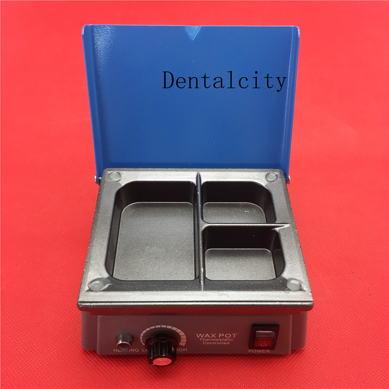 Dental Wax Heater 3 Well Wax Heating Analog Dipping Pot Dental Lab Equipment