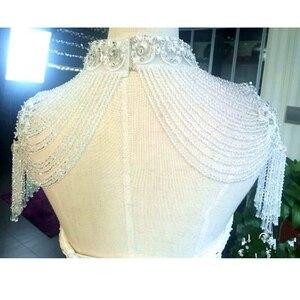 Image 2 - Bolero hecho a mano con apliques de cristales, envoltura de boda, Bolero, hecho en China, accesorios de boda, vestido de noche con chal Bolero