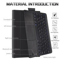 """case samsung galaxy For Samsung Galaxy Tab S6 10.5"""" 2019 Bluetooth Keyboard Case T860 T865 Magnetic Detachable Keyboard with Leather Tablet Cover (3)"""