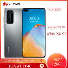 Originale Huawei P40 5G Del Telefono Mobile 6.1 Pollici Schermo OLED 422PPI 8GB + 128GB di ROM Smart Phone 50MP 3800mAh Kirin 990 Android 10(China)