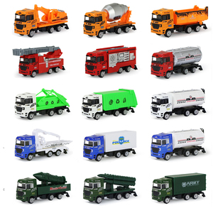 Image 2 - 1 Pc Alloy Metal Car Model 5 Color Container Truck Diecast Model Kid Children Educational Toys Christmas Birthday Gift For Boys