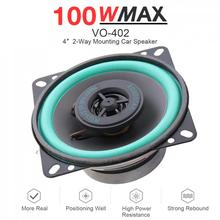 1pcs 4 Inch 100W Universal Car HiFi Coaxial Speaker Vehicle Door Auto Audio Music Stereo Full Range Frequency Speakers