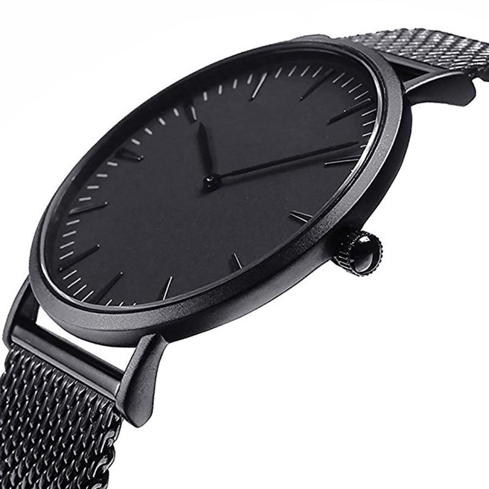 Luxury Men Women Stainless Steel Watch Analog Quartz Bracelet Wrist Watches Relogio Masculino Reloj Hombre Erkek Kol Saati Q