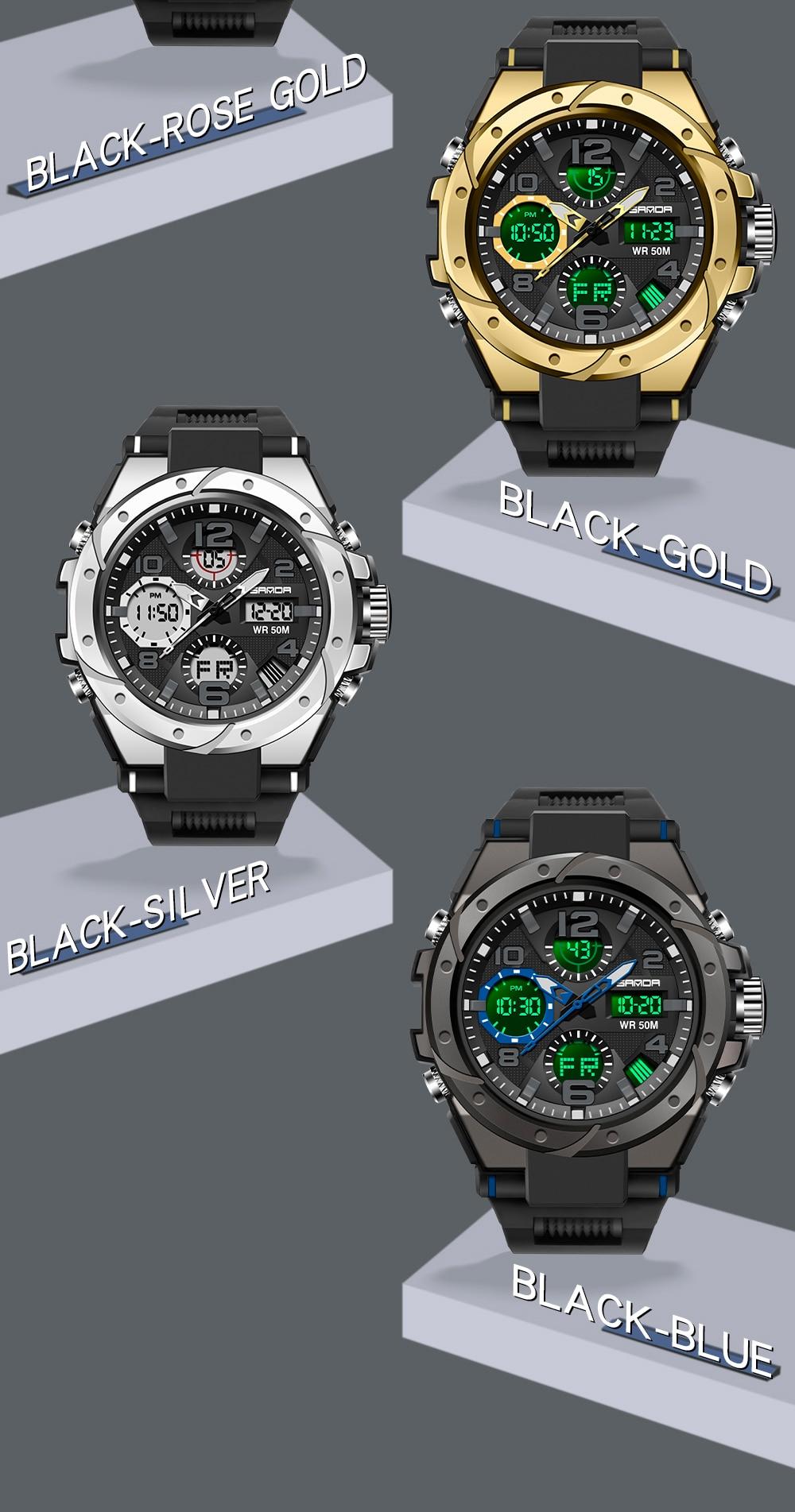 H6b36931eda034e2ab7186194702f1cbek SANAD Top Brand Luxury Men's Military Sports Watches 5ATM Waterproof