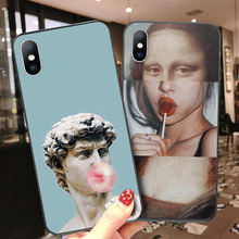 Moskado Funny Art Abstract Phone Case For iPhone X XR XS Max 7 8 6 6s Plus 5 5s SE 10 Silicone Cases Statue Soft TPU Back Cover цена и фото