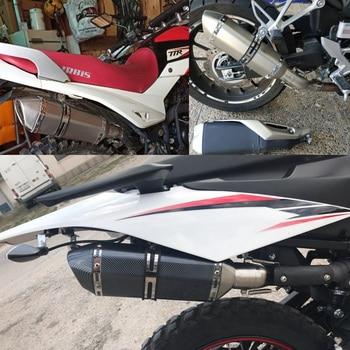 36-51mm Universal Motorcycle exhaust escape moto Exhaust Motocross Exhaust Muffler For FZ6 CBR250 MT07 ATV with db killer universal motorcycle exhaust modify akrapovic exhaust muffler nmax fz6 cbr250 cb600 mt07 atv dirt pit bike exhaust
