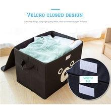 Storage Organization Bins Oxford Cloth Storage Box Cute Bear for Bedroom Wardrobe Organizer for Underwear Kids Toys Clothes