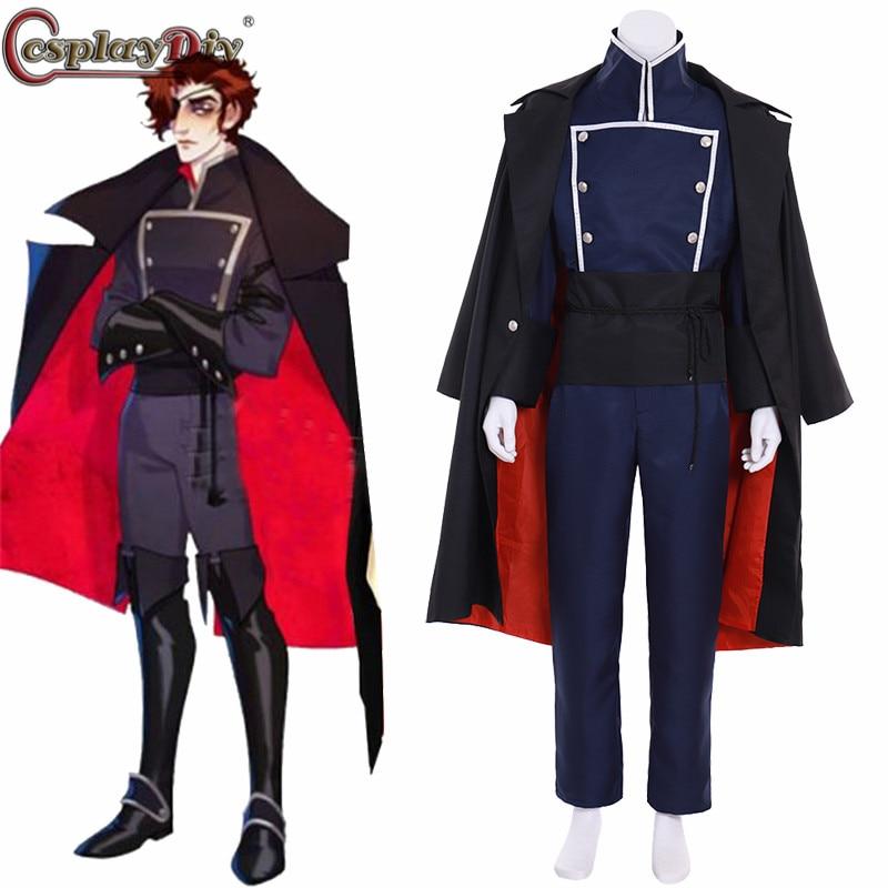 CosplayDiy The Arcana Julian Devorak Cosplay Costume Men's Military Uniform Custom Made Halloween Party Outfits Free Shipping