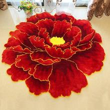 Креативный Пион цветок гостиная ковер винтажный китайский стиль пион коврики для прикроватный коврик для спальни подвесная корзина ковер