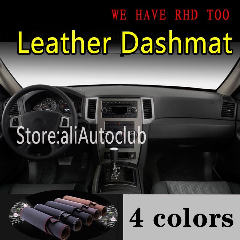 For Jeep Grand Cherokee G3 2004 2005 2006 2007 2008 2009 Leather Dashmat Dashboard Cover Dash Mat Sunshade Carpet Car Styling