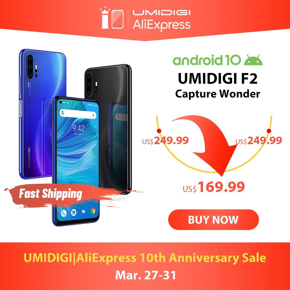 Em estoque umidigi f2 android 10 bandas globais 6.53