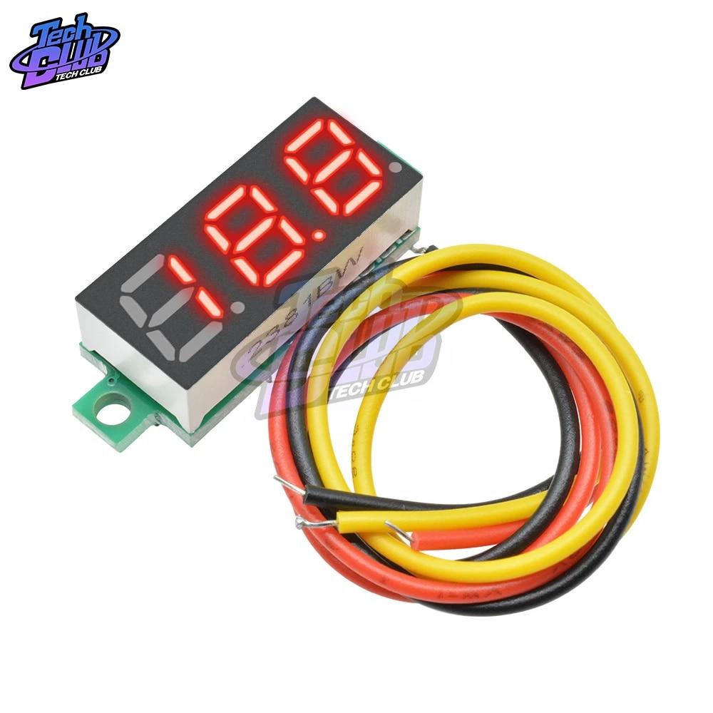 """2PCS 0.28/"""" LED DC  0-100V Digital Voltmeter Panel Meter Green COLOR"""
