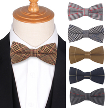Adjustable Formal Plaid Bow Tie Butterfly Mens Bowtie Tuxedo Plaid Bow ties For Men Women Groom Bow-tie Prom Party Accessories 2019 fashion bow ties for groom men butterfly colorful bowtie creative feather decor bowtie men s suit s accessories