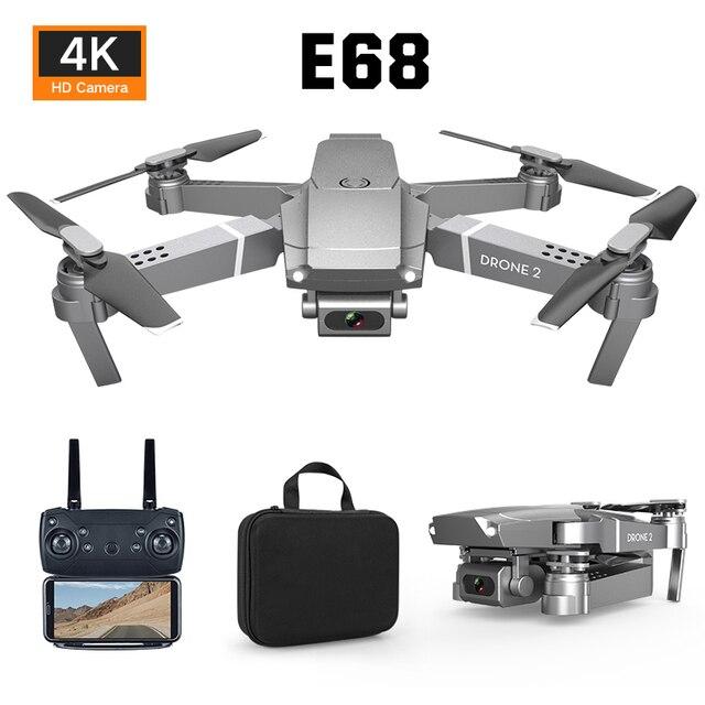 New E68 WIFIWide Angle HD 4K 1080P Camera Hight Hold Mode RC Foldable Quadcopter Drone 5