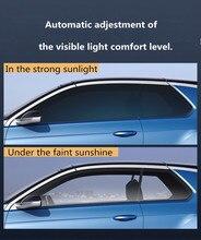 Film photochromique pour vitre de voiture teinte SUNICE, bleu à noir, VLT, 69% ~ 25%, décoration de maison, utilisation en été