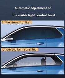 SUNICE 27 in x 57 in Car folia zaciemniająca okna 75% ~ 20% VLT zmiana koloru fotochromowa folia do samochodu Auto Building Windows odcień szkła ceramicznego w Folie okienne od Samochody i motocykle na