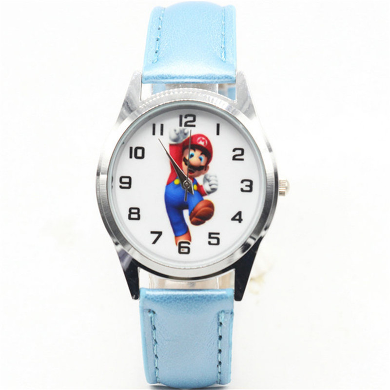 2020 New Dropshipping Cartoon Super Mario Children Watch Child Kid Girl Boy Student Quartz Wristwatch Baby Birthday Gift Clock