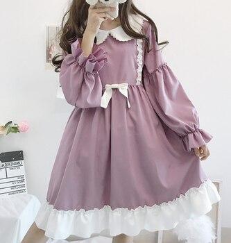 Vestido victoriano dulce muñeca Linda cuello té fiesta gótica lolita té fiesta loli cos verano lolita vestido diario japonés kawaii chica