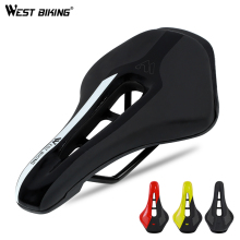WEST BIKING седло для велосипеда, шоссейные стальные рельсы, горный велосипед, Sillin Bicicleta Carretera, мягкое седло из искусственной кожи для горного велосипеда
