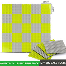 Small Particle Bottom Splicing Base Plate DIY Building Blocks Sets Baseboard Baseplate Bricks Kids Educational Toys marumine plate 8 x 16 boys and girls toys compatible building blocks set base plate diy classic educational bricks