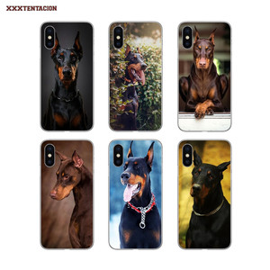 TPU Bag Case Dobermann Police Dog For Samsung Galaxy A3 A5 A7 A750 2016 2017 A10 A30 A40 A50 A70 A6 A8 Plus A9 Star Lite J8 2018