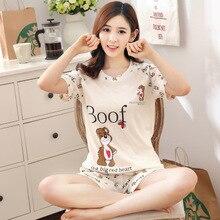 Summer Women Pajamas Set Cute Kwaii Hello Kitty Sleepwear