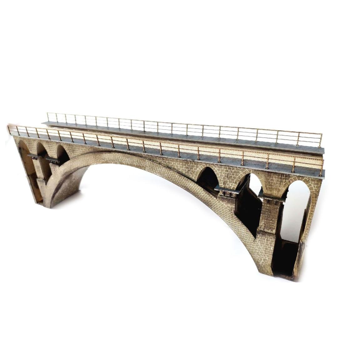 35cm 1:87 HO Scale Train Railway Scene Decoration T41 First-line Bridge Assembly Kit Model For Sand Table