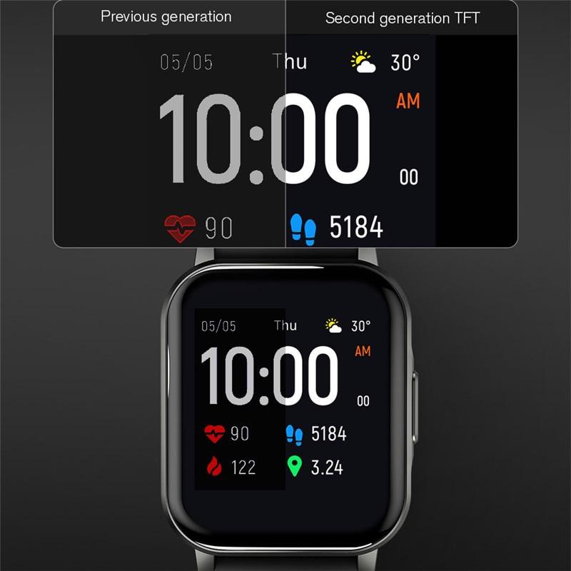 Новинка, хит продаж, Смарт-часы Haylou LS02, английская версия, водонепроницаемость IP68, 12 спортивных режимов, напоминание о звонках, умный Браслет Bluetooth 5,0-2