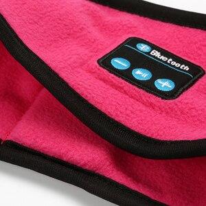 Image 3 - Portatile Senza Fili di Bluetooth Della Cuffia di Sonno Yoga Della Fascia Del Cappello Caldo Molle della Protezione di Sport Altoparlante Intelligente Sciarpa Stereo Auricolare Con Il Mic
