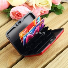 1 Pcs Waterproof Business ID Credit Card Holder Wallet Pocket Case Aluminum Metal Shiny Side Anti RFID scan Cover(China)