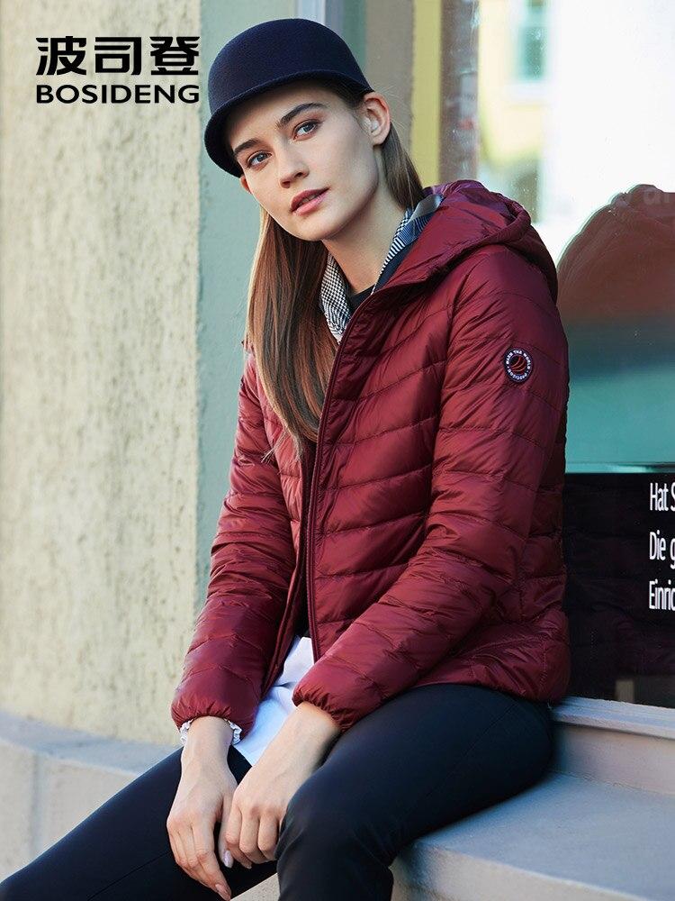 BOSIDENG 2019 new collection early winter   down   jacket women hooded   down     coat   ultra light waterproof oversize B90131014B