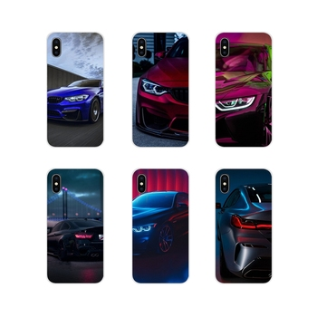 For Samsung A10 A30 A40 A50 A60 A70 M30 Galaxy Note 2 3 4 5 8 9 10 PLUS Accessories Phone Cases Covers Blue white black For BMW image