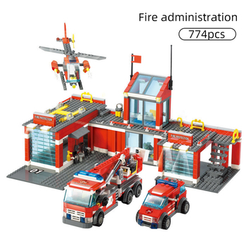 цена на 774/300pcs City Fire Station Model Building Blocks Compatible Construction Firefighter man Truck Enlighten Bricks Toys Children
