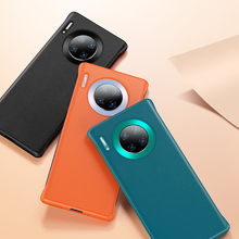 Luxury Leather Phone Cover Case For Huawei Mate 30 Pro P30 P40 Pro Lite V30 Pro Case Soft Silicone Plain Fashion Back Cases hit color frosted case for huawei p40 pro mate30 mate 30 pro p30 pro luxury shockproof case for honor v30 pro soft silicone new