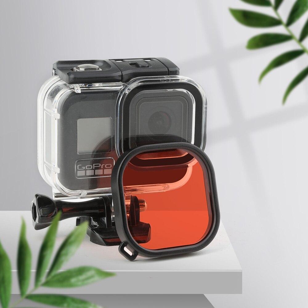 preto câmera mergulho capa protetora para gopro 8 go pro 8 acessório