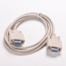 1 unidad, Cable de módem nulo RS232 Serial de 5 pies F/F hembra a hembra, conexión cruzada DB9 FTA, Cable convertidor de datos COM de 9 pines, accesorio de PC