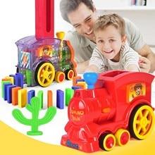 63 шт. детский пластиковый Электрический вращающийся Строительный Блок поезд светодиодный светильник звуковая автоматическая укладка блоки игра поезд автомобиль игрушка