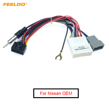 FEELDO 10Pcs 16P Car Head Unit Wire Harness Adapter For Nissan OEM Car Radio Harness #FD2049
