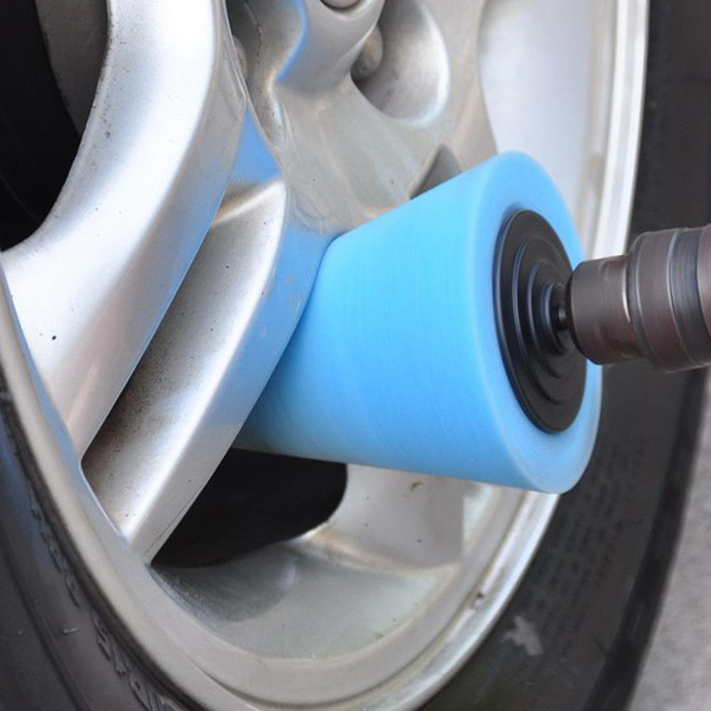 Car Polisher Tyres Wheel Wheel Hub Tool Burnishing Foam Sponge Polishing Pad Polishing Machine Cone-shape Wheel Hubs Disk image