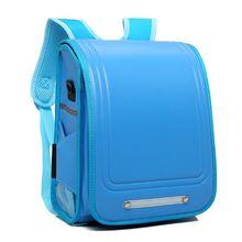 Randoseru plecak tornister styl japoński tornister dla dziewcząt chłopców tanie tanio CN (pochodzenie) zipper Backpack 1115g PU Leather 36cm Stałe Randoseru Backpack Unisex 17cm 27cm Torby szkolne